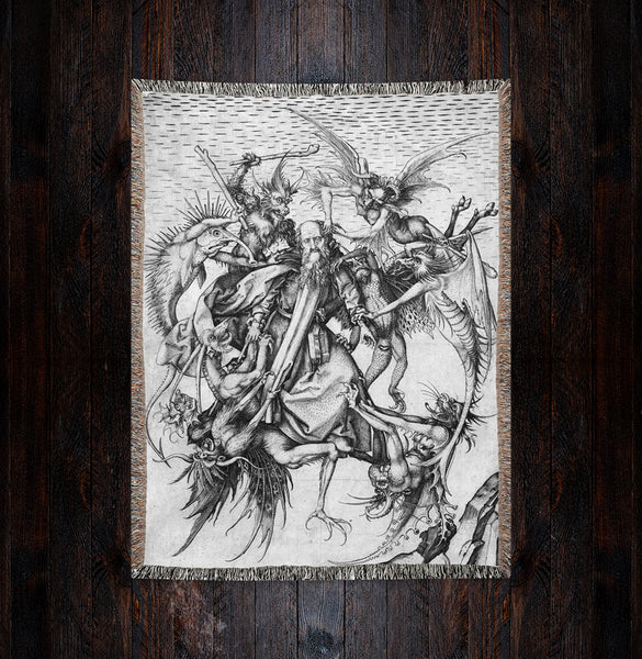 The Temptation  Woven Art Blankets