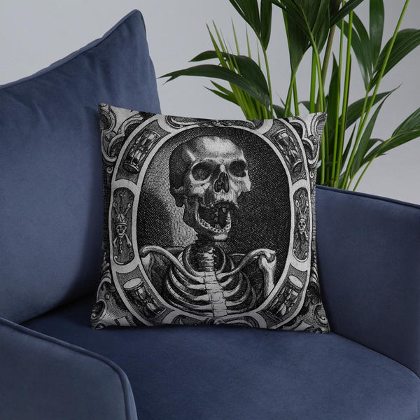skull art pillow