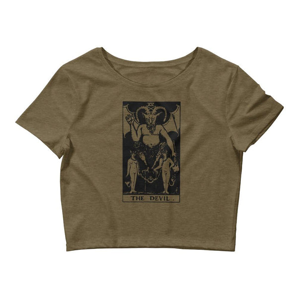 The Devil Tarot Major Arcana Women's Crop Tee