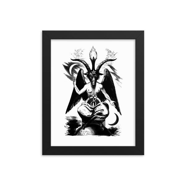 Goat Framed Occult Art Poster