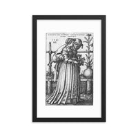 The Lady and Death Framed Poster Print