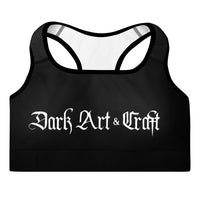 Dark Art & Craft Padded Sports Bra