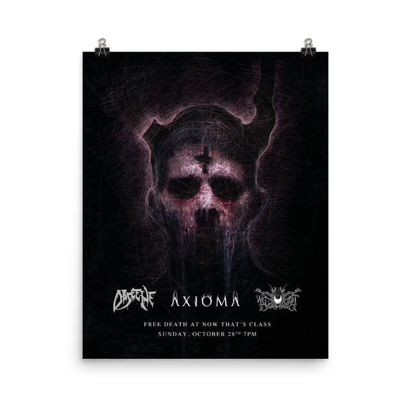 Obscene, Axioma & Well of Night J Meyers Poster Print