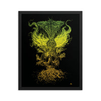 Emanating Death Fred Grabosky Color Framed Poster Print