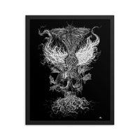 Emanating Death Fred Grabosky B/W Graphic Framed poster