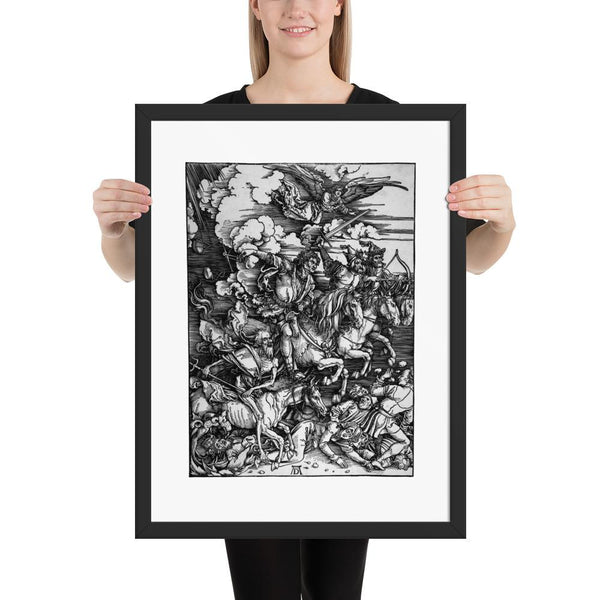 The Four Horsemen of The Apocalypse Albrecht Dürer Framed Poster