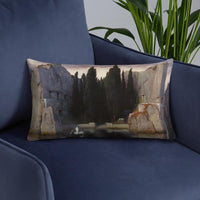 Isle of the Dead Third Version Arnold Böcklin Pillow
