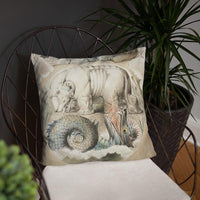Behemoth and Leviathan William Blake Pillow