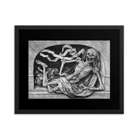 Memento Mori Death Framed Poster artwork