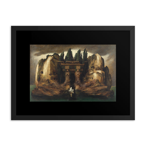 Toteninsel Isle of the Dead Karl Wilhelm Diefenbach Framed poster