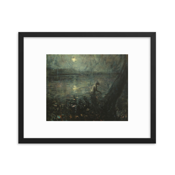 Nocturnal Turner Brad Gray Framed Poster Print
