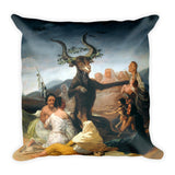 Witches' Sabbath Francisco Goya Square Pillow