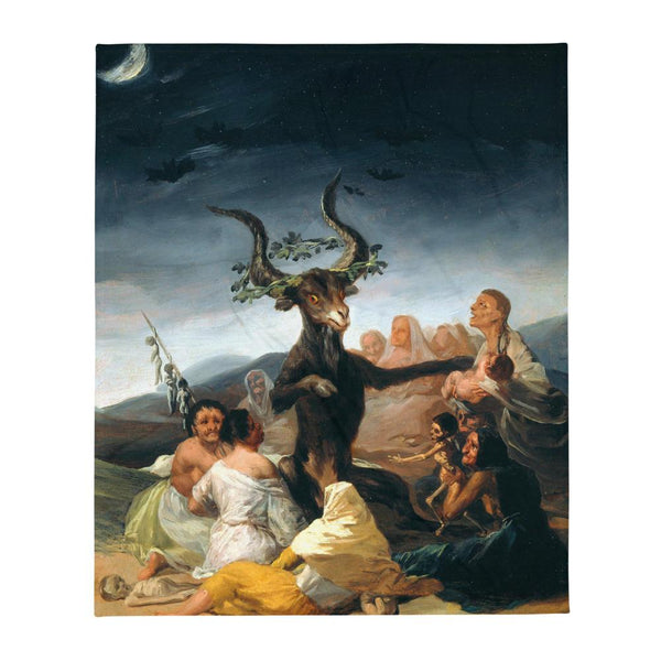 The Sabbath of Witches Francisco Goya Throw Blanket