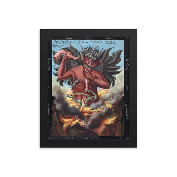 dark demon art print