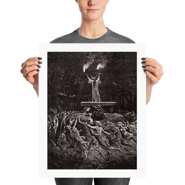 Witches Dancing at a Sabbath print dark art print