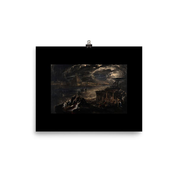 The Fall of Babylon John Martin Poster