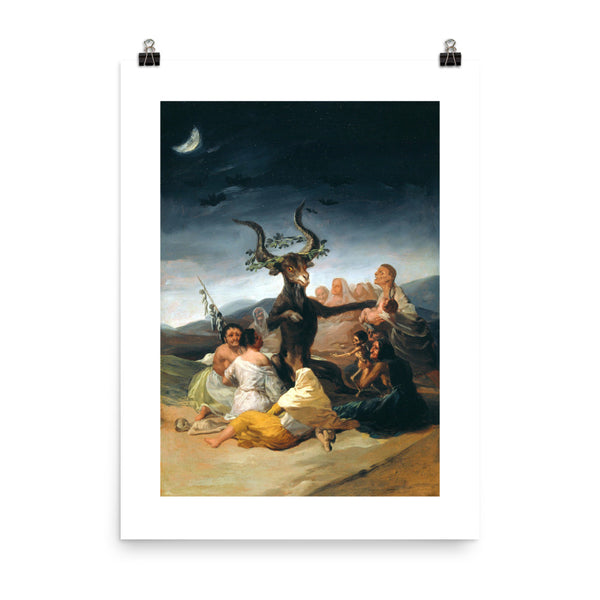 The Sabbath of witches Francisco Goya Poster Print