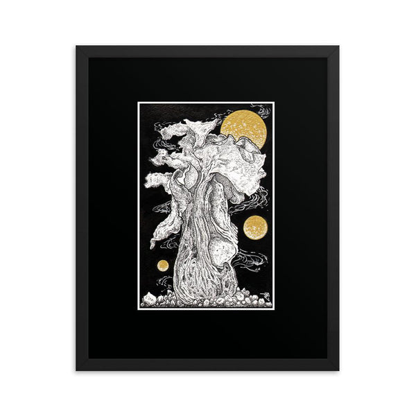 Cosmic Growth Fred Grabosky Graphic Framed poster