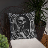 Mors Ultima Linea Rerum Skull Pillow
