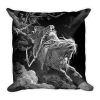 The Fourth Horseman Gustave Doré Square Pillow