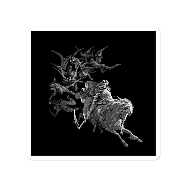 Gustave Doré: Death on the Pale Horse Square stickers