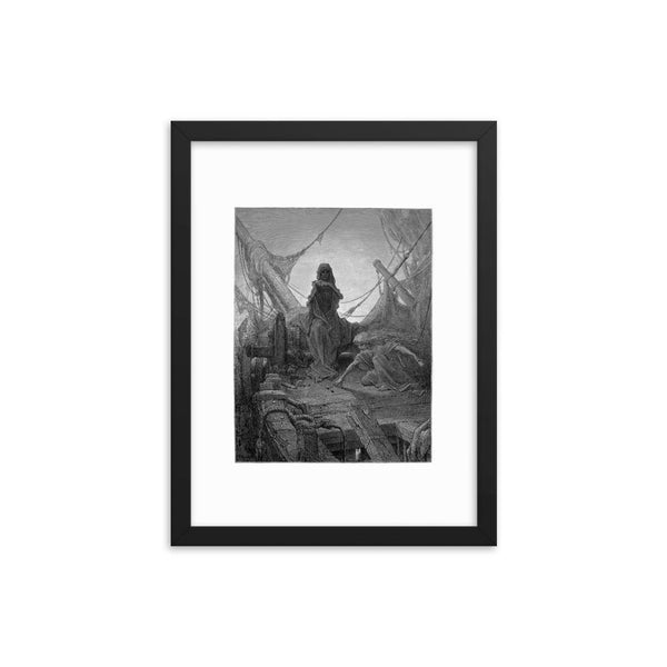 'The Rime of the Ancient Mariner' Gustave Dore Framed Art Poster Print