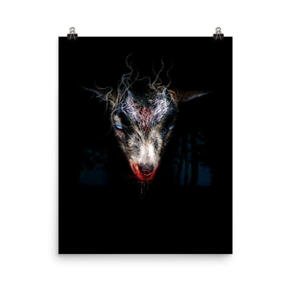 Goat Dark Art Print Creepy
