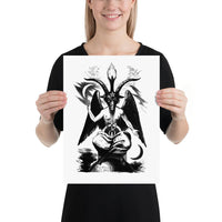 Sabbatic Goat Occult Art Poster Print