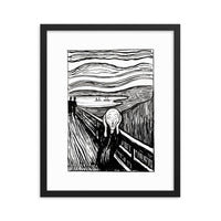 The Scream ink print