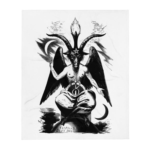 Sabbatic Goat Occult Art Throw Blanket