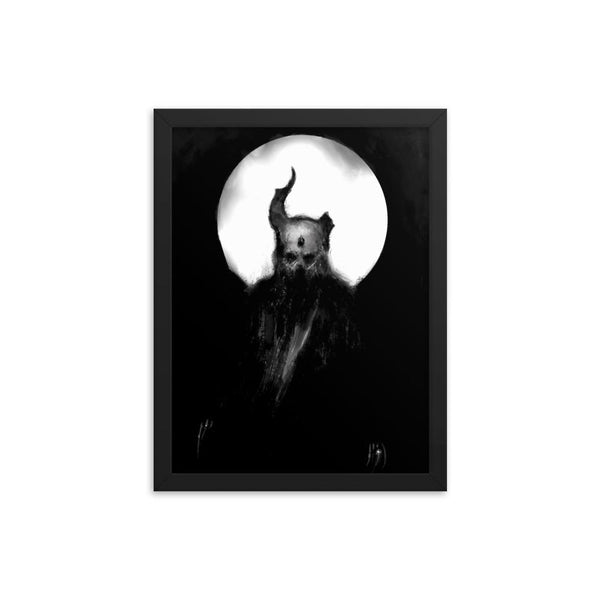 Demon with a Broken Horn Framed Poster J Meyers