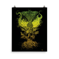 Emanating Death Fred Grabosky Color Graphic Poster Print