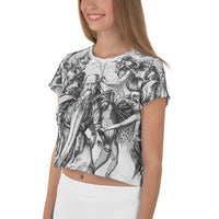 The Temptation of St. Anthony All-Over Print Crop Tee