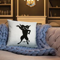 Demon Silhouette Pillow