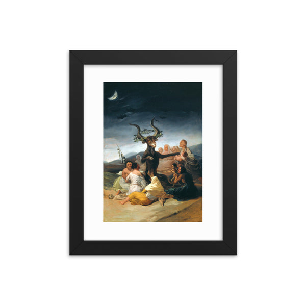 The Sabbath of Witches Francisco Goya Framed Poster