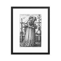 dark witch art print The Lady and Death by Sebald Beham