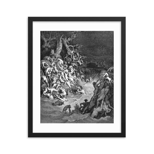 The World Is Destroyed by Water Gustave Doré Framed poster