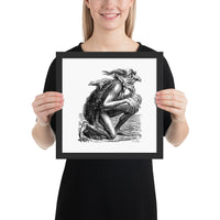 demon art framed print