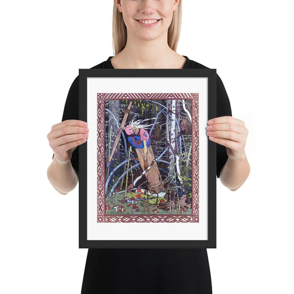 Baba Yaga Ivan Bilibin Framed Poster Art witch art