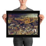 The Triumph of Death Pieter Bruegel the Elder Poster Print Black Border