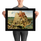 tower of babel art poster