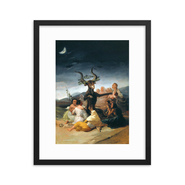 framed print witches art witch goat art