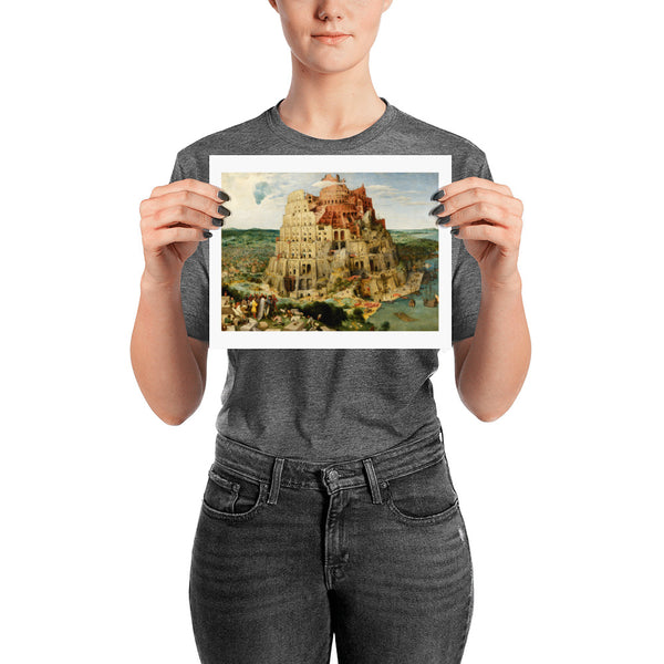 The Tower of Babel White Border Pieter Bruegel the Elder Poster Print