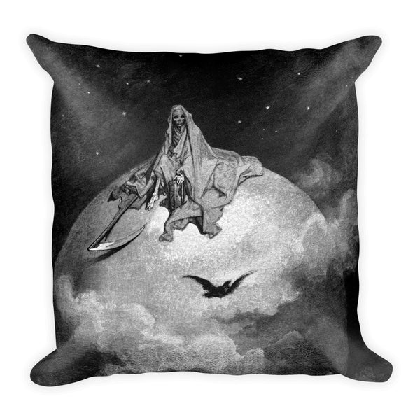 The Raven: Presents a Vision of Death Gustave Doré Square Pillow