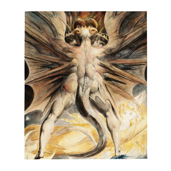 The Great Red Dragon William Blake Throw Blanket