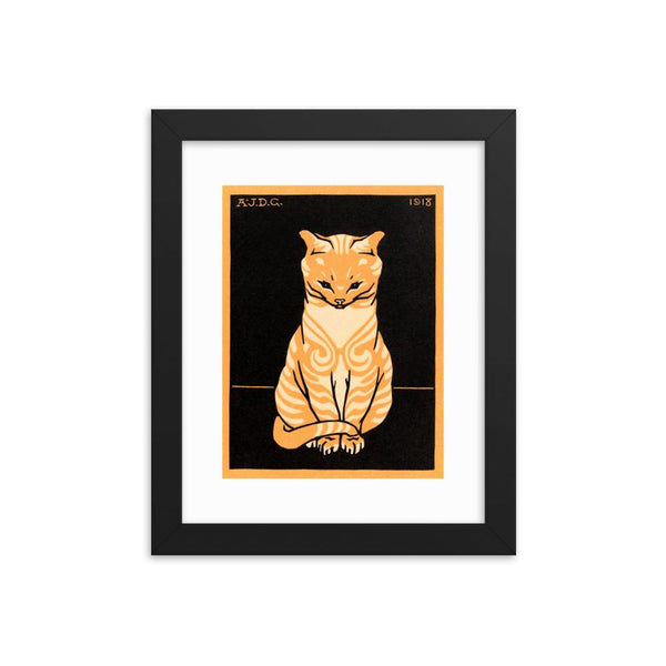Sitting Cat by Julie de Graag Framed poster