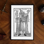 dark art devil pope poster print art print