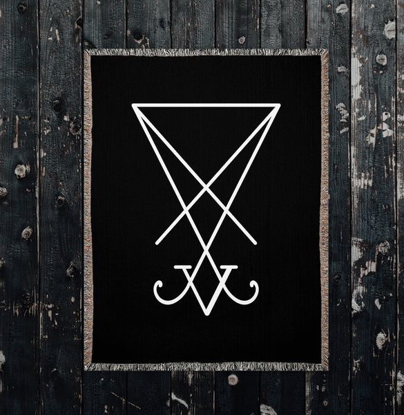 Sigil of Lucifer Woven Blankets
