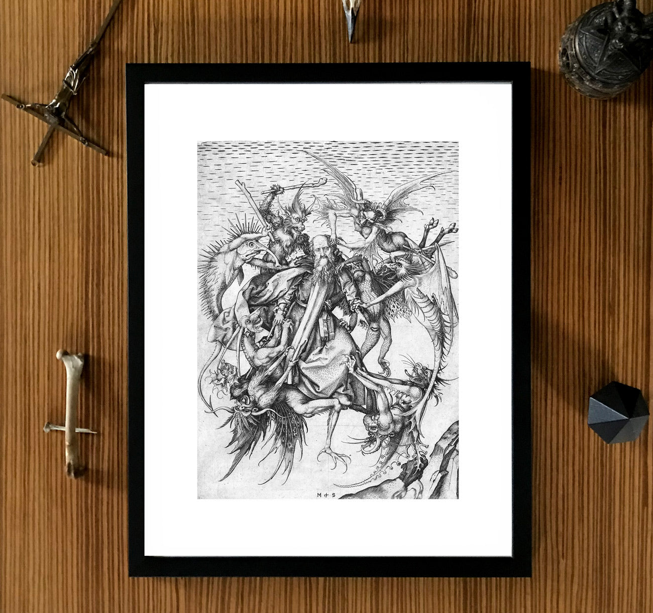 dark art framed demons monsters