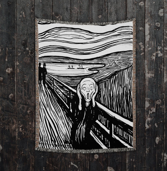 The Scream Woven Art Blankets